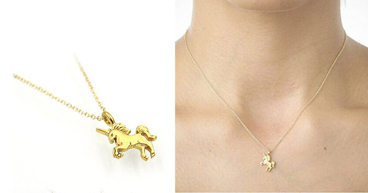 Unicorn Pendant Necklace $2.19 + Free Shipping