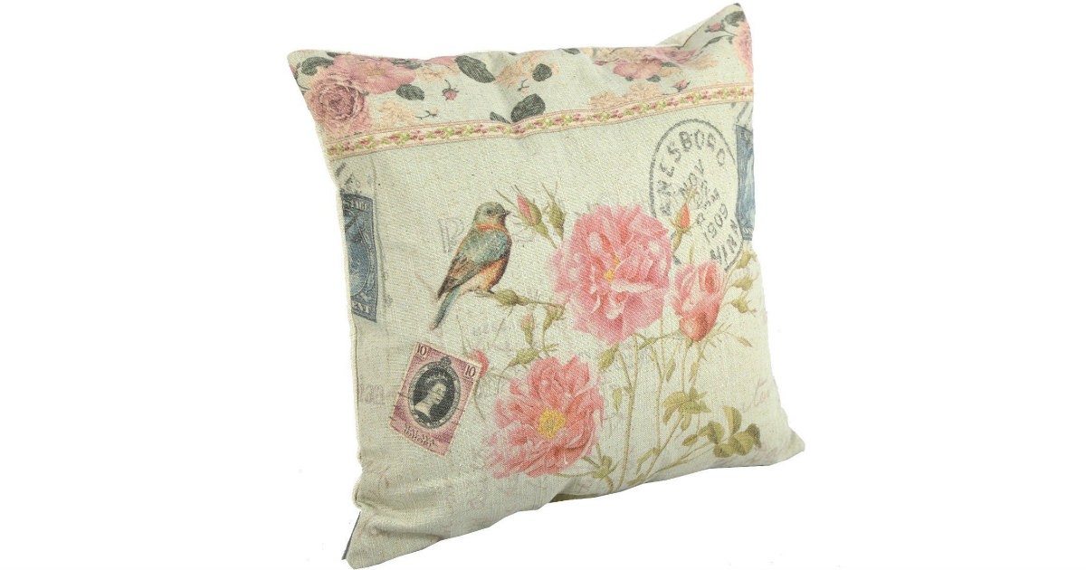 Pink Blossoms Pillow Cover on Amazon