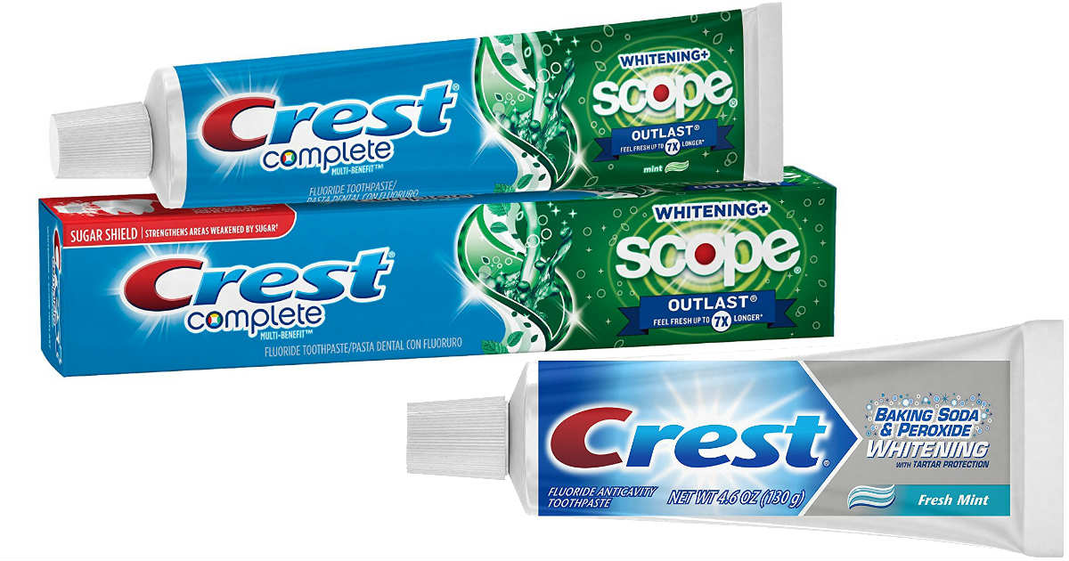 Crest Toothpaste at Amazon