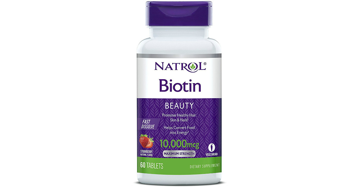 Biotin Tablets 60ct on Sale for ONLY $3.76 Shipped on Amazon
