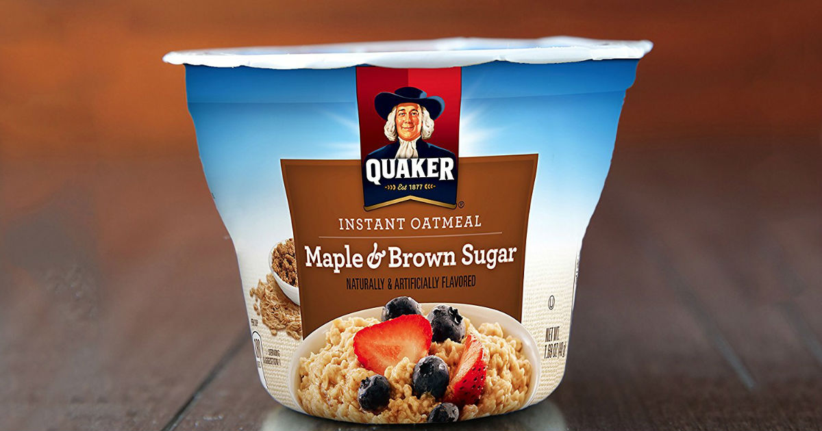 Quaker Instant Oatmeal Cups $0.59 Each Shipped on Amazon