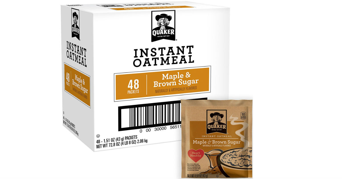 Quaker Instant Oatmeal on Amazon