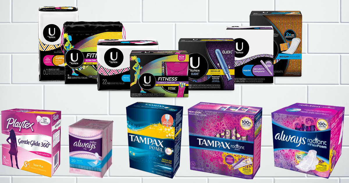 Pads Tampons Liners Coupons