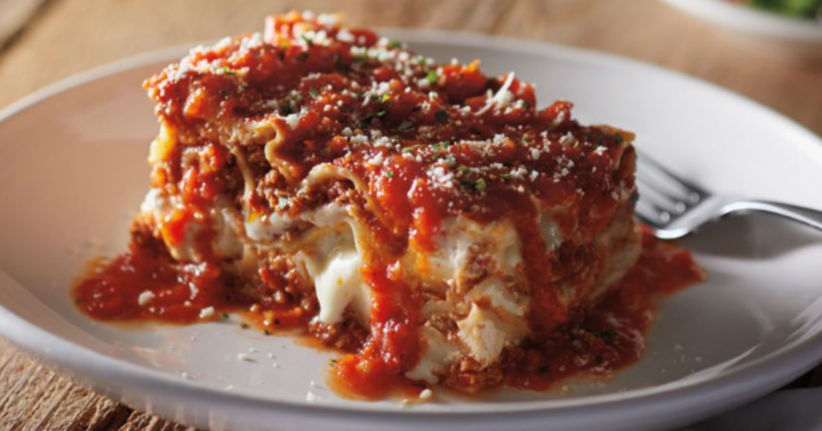 Free Lasagna at Carrabba's