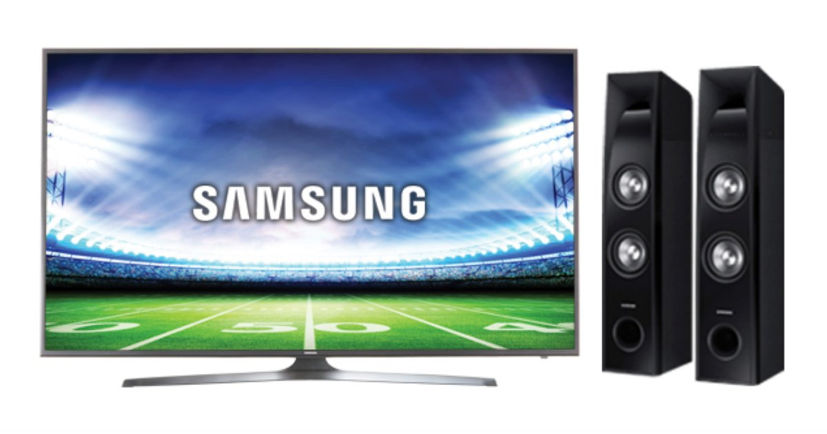 Win a Samsung 65inch TV & Samsung Tower Speaker System
