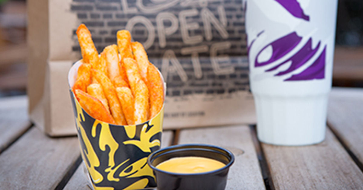 FREE Nacho Fries at Taco Bell.