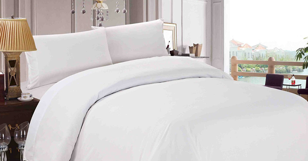 Luxury Duvet Cover & Sham 3 Piece Set on Sale $16.97 on Amazon