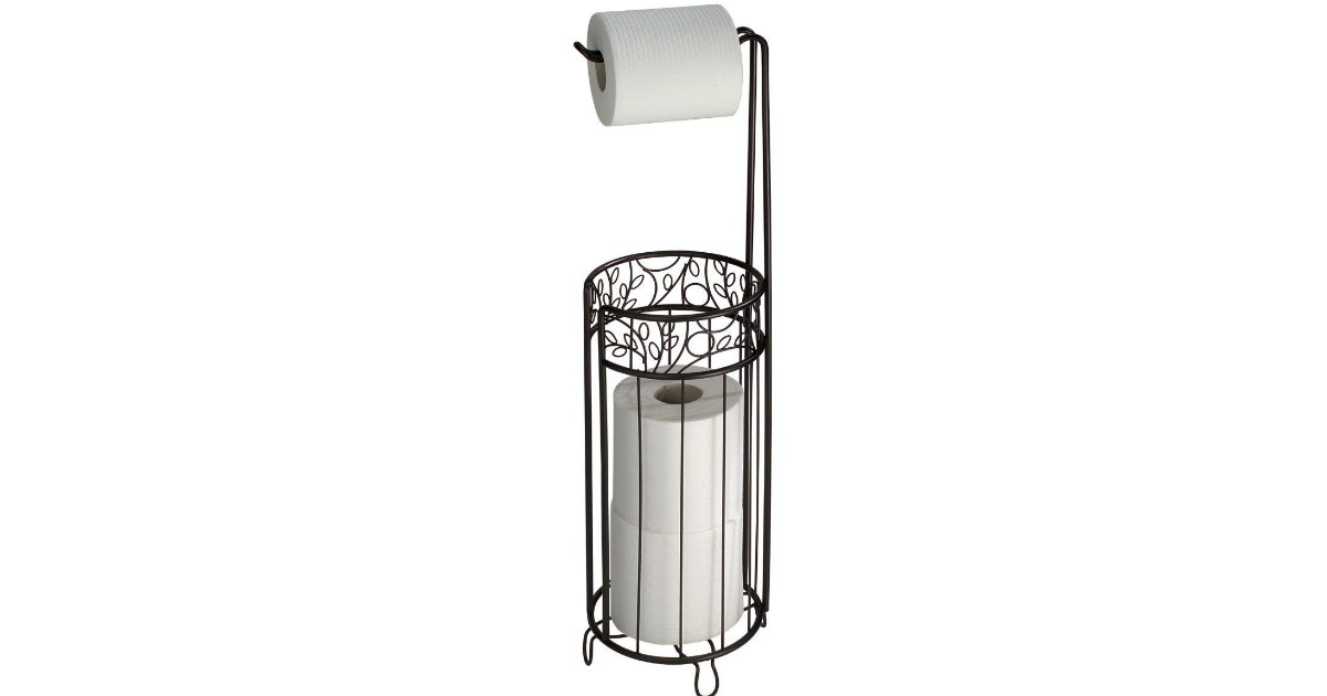 Amazon Has A Free Standing Toilet Paper Holder With Storage On Sale For  ONLY $6.78.