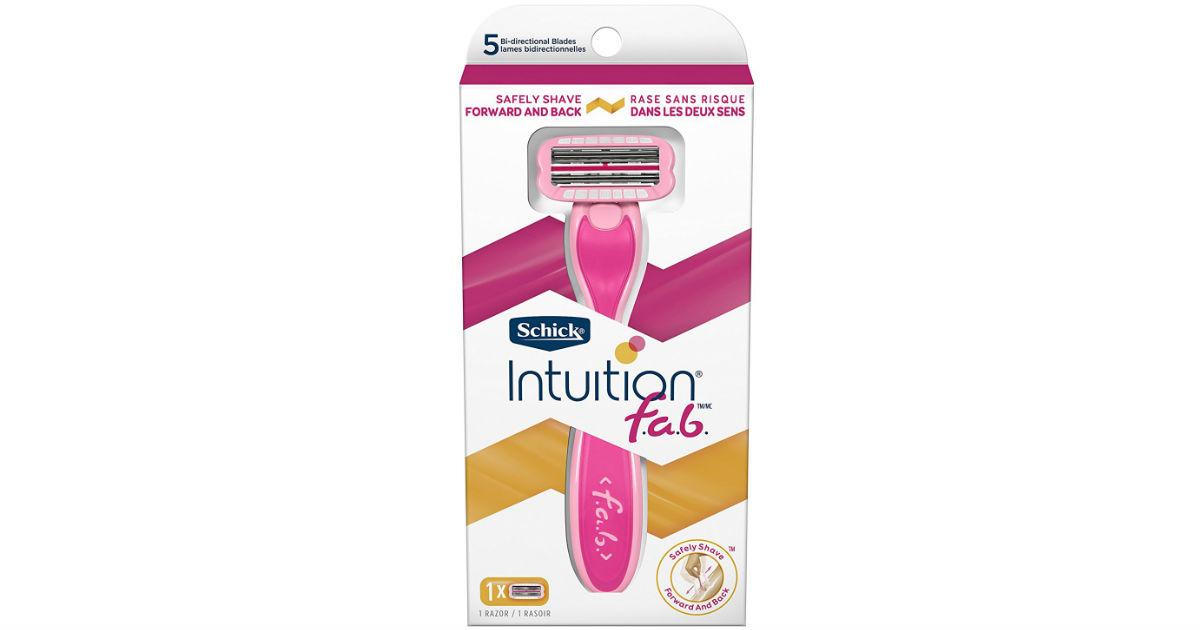 Schick Intuition f.a.b. Razor & Refill ONLY $4.99 (Reg $14.99)