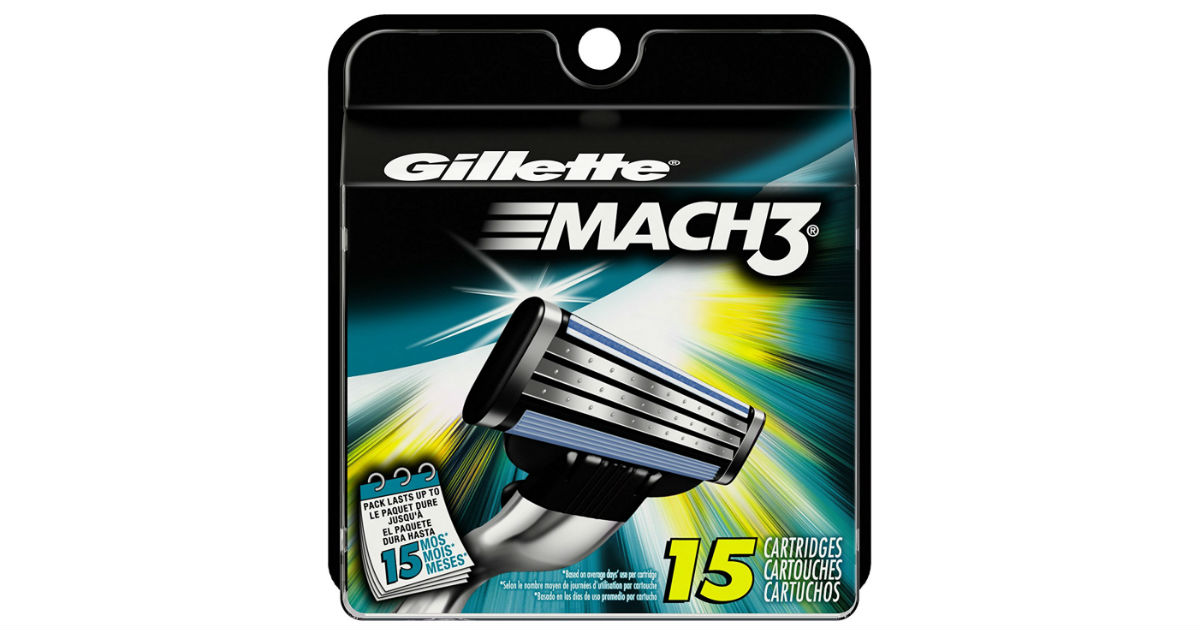 Gillette Men's Mach3 Razor Blade on Amazon
