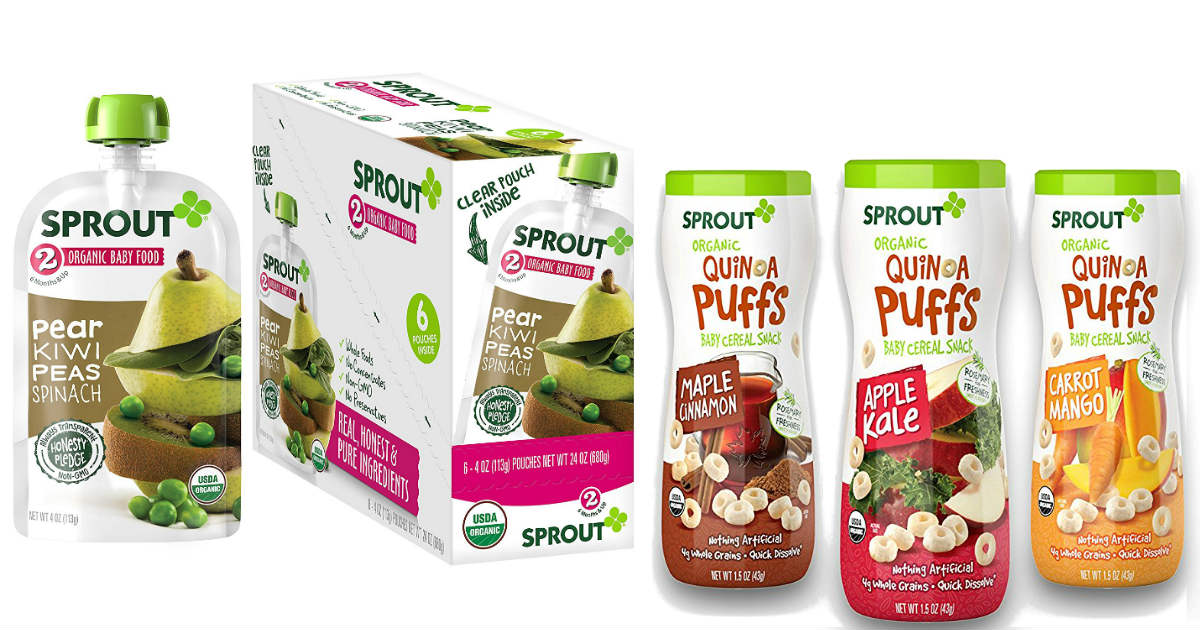 Sprout Ogranic Baby Food 35% Off Coupon + Free Shipping