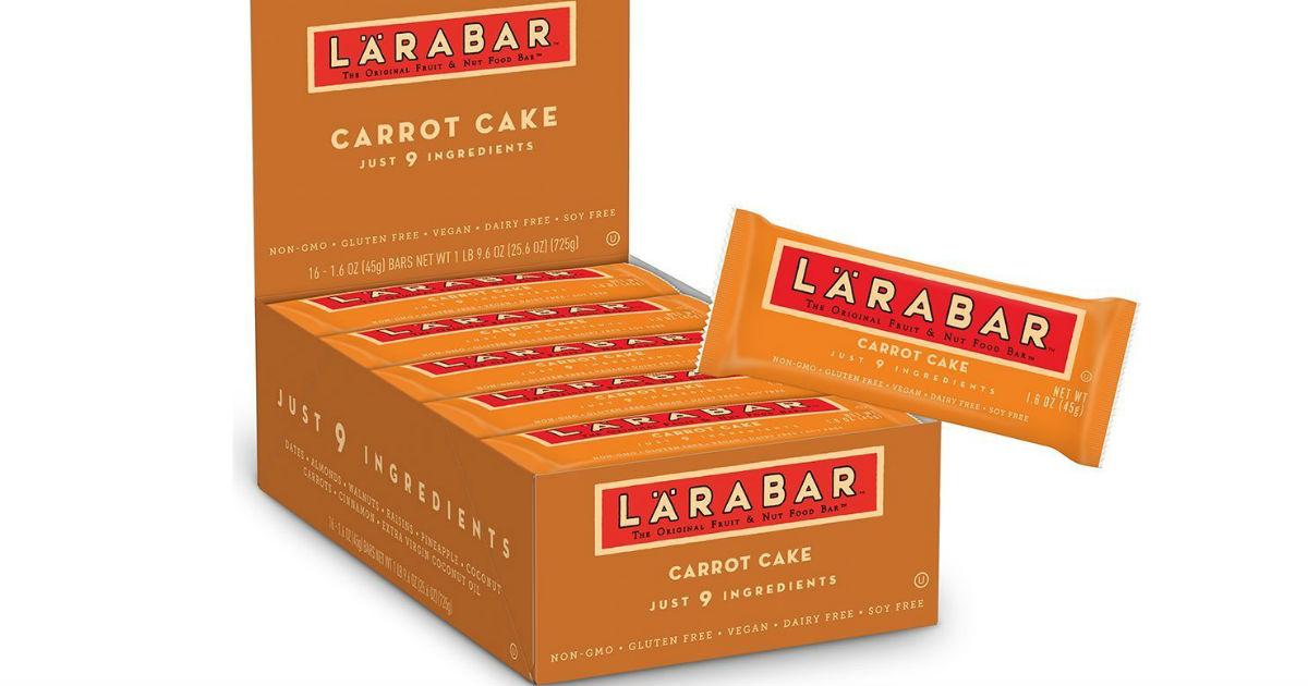 Larabar Gluten Free Carrot Cake Bars 16ct $8.24 + Free Shipping