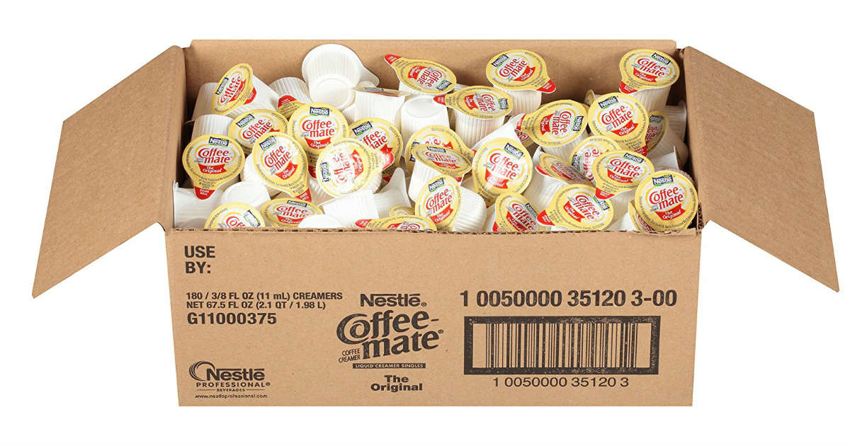 180ct Nestle Coffee-Mate Coffee Creamer ONLY $7.97 on Amazon
