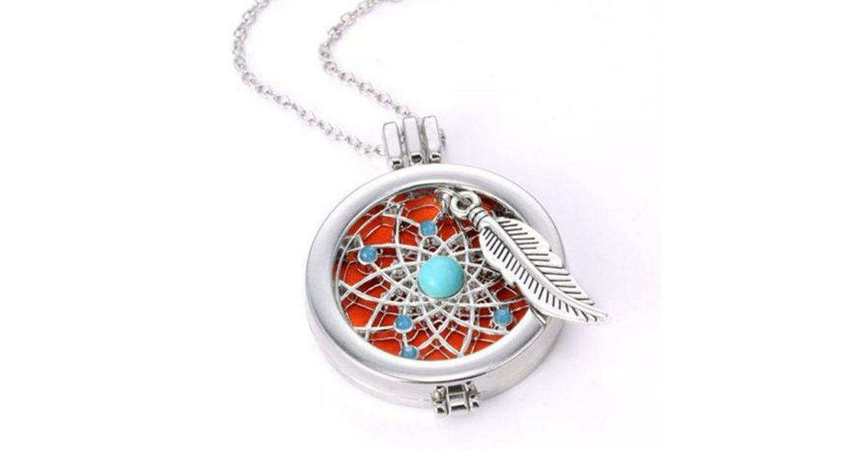 Aromatherapy Essential Oil Diffuser Necklace ONLY $2.99 Shipped