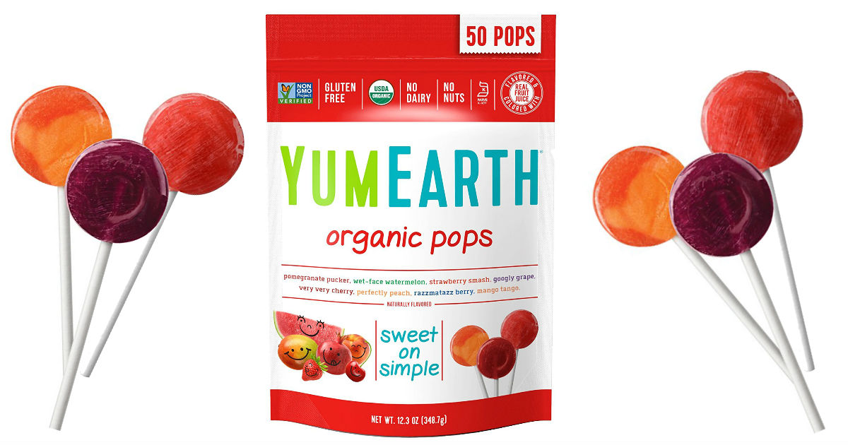 YumEarth Organic Lollipops 50ct ONLY $5.32 Shipped