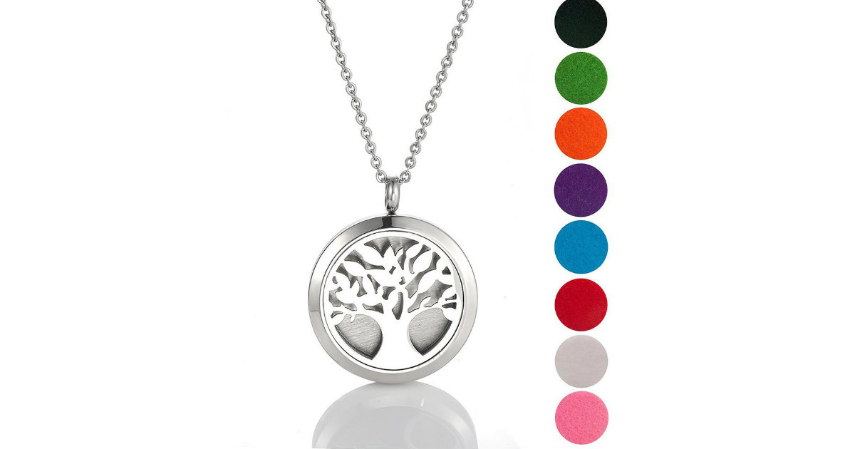 Aromatherapy Oil Diffuser Necklace on Amazon