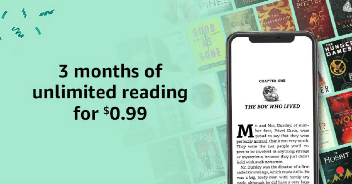 $0.99 for 3 Months of Kindle U...