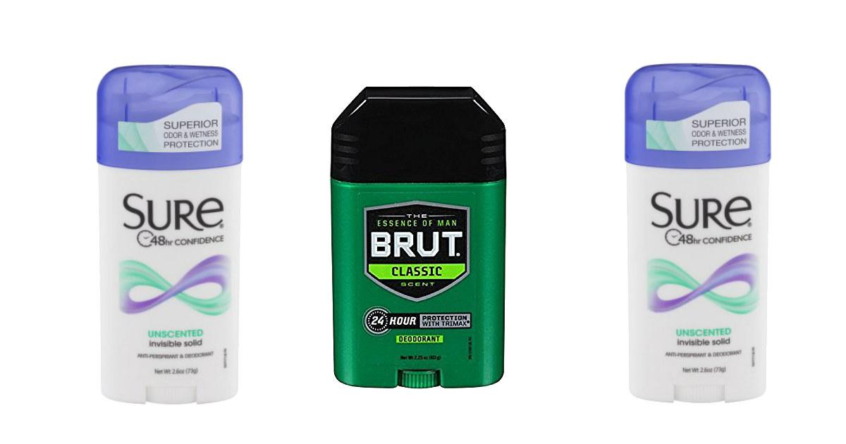 FREE Sure or Brut Deodorant at CVS