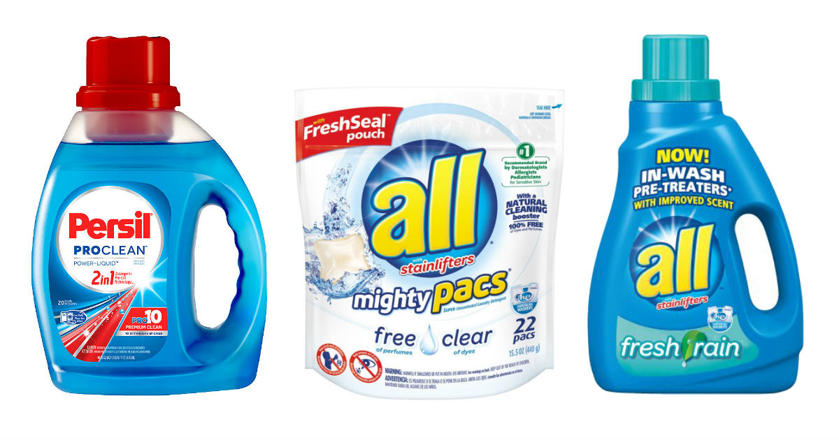 Persil and All laundry detergent deal at CVS