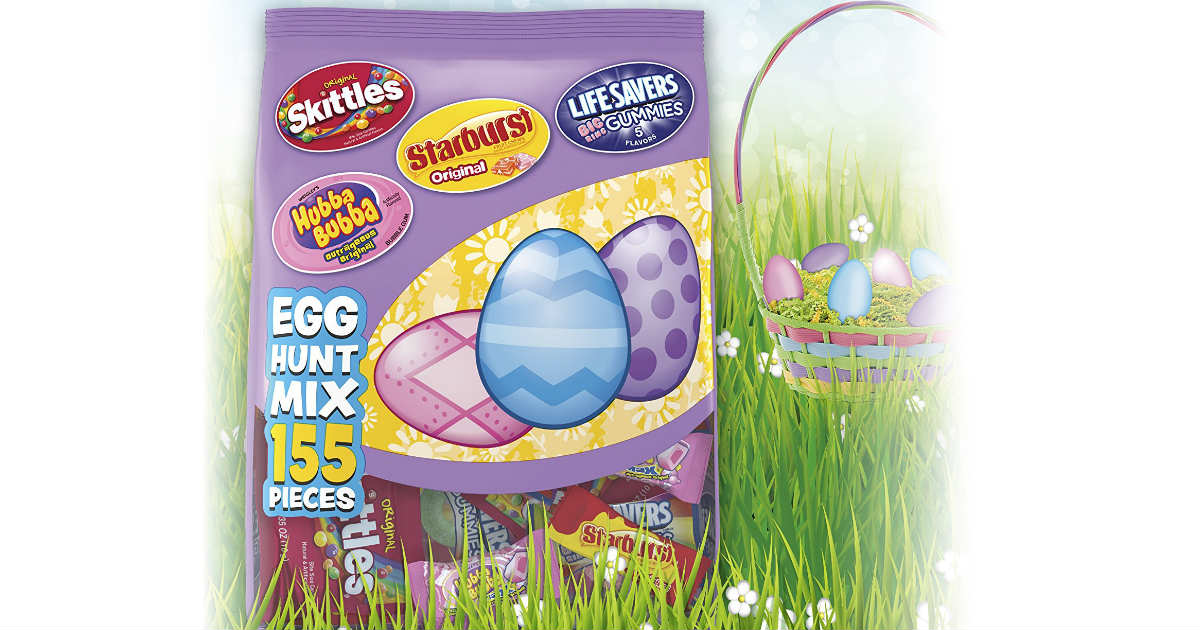 $8.48 for a 155ct Bag of Easter Candy Skittles, Starburst Mix