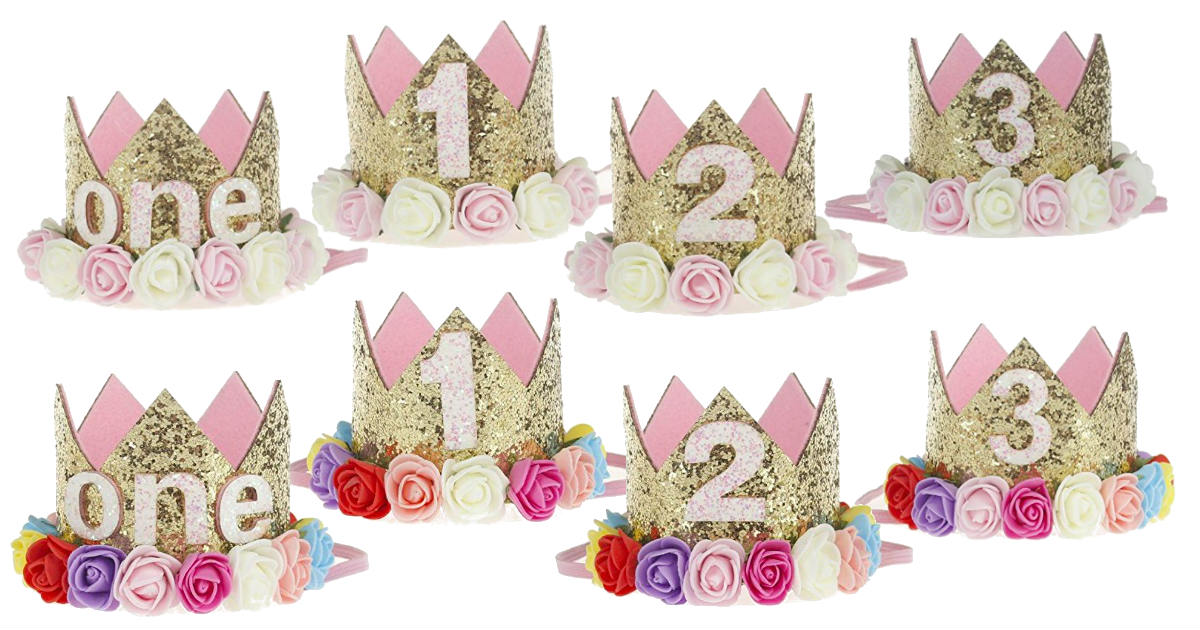 Baby Princess Birthday Crown Deal at Amazon