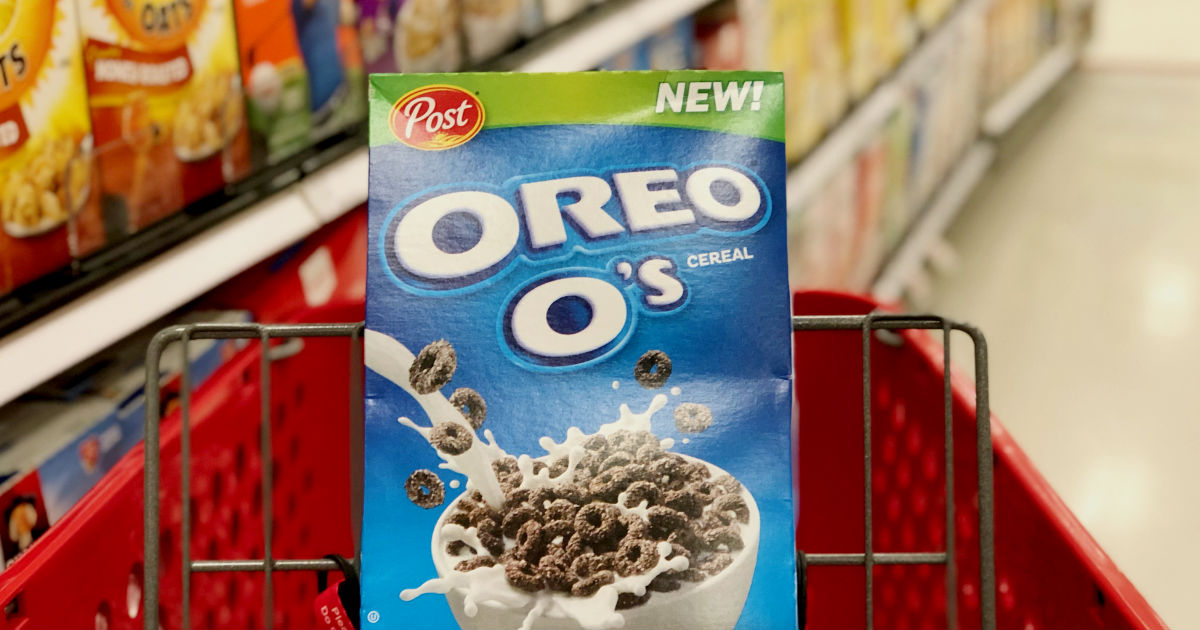 image about Oreo Printable Coupons named Oreo Cereal at Aim for $0.94 - Printable Discount codes