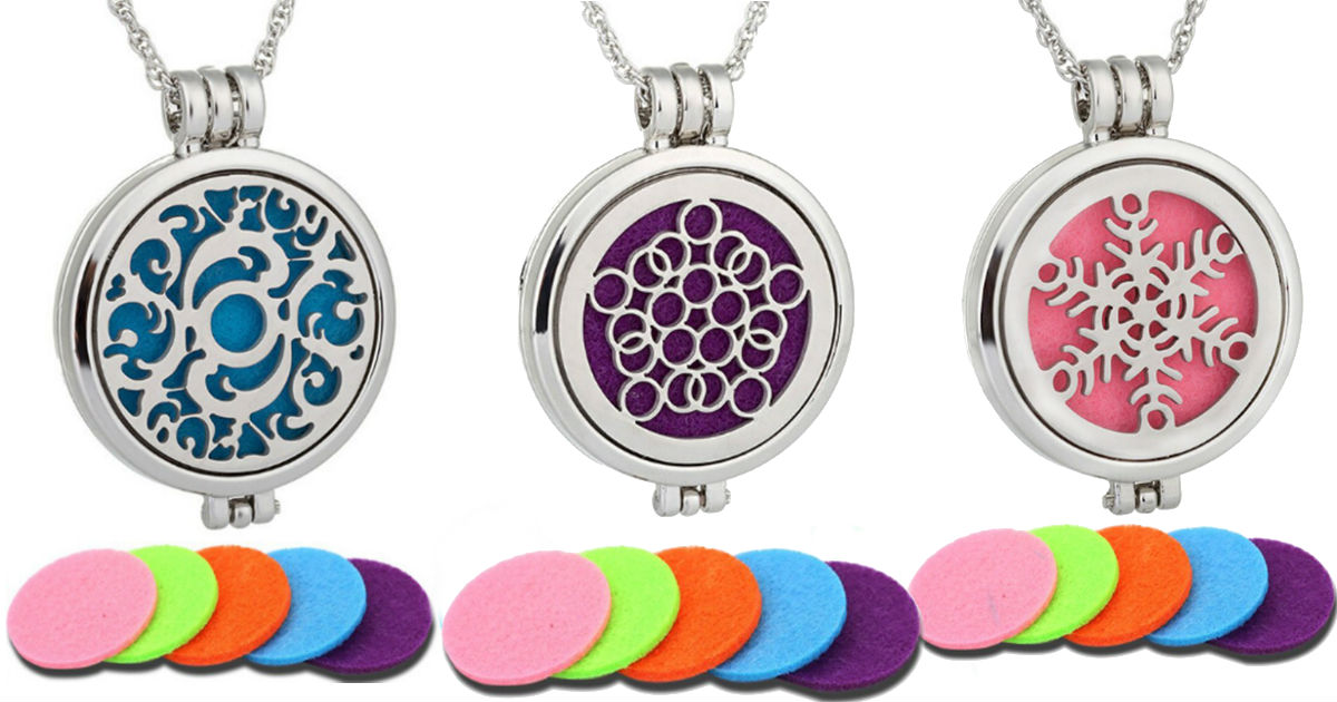 Aromatherapy Necklaces on Amazon