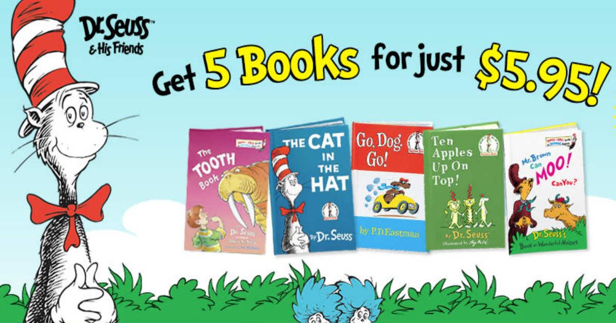 5 Dr. Seuss Books & Bo...