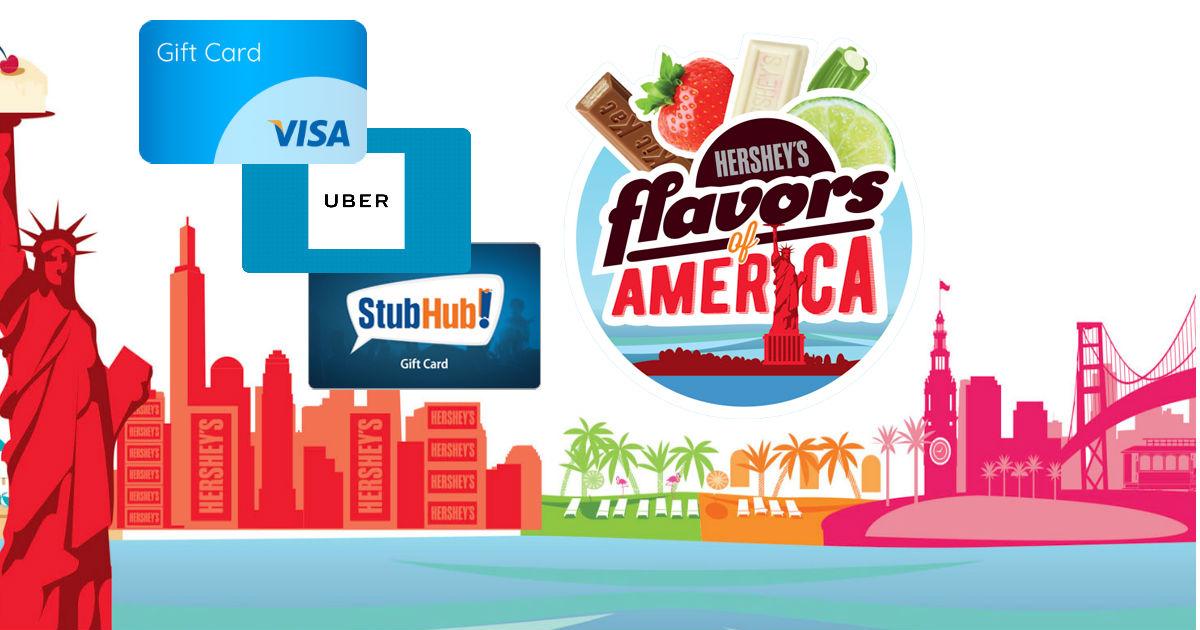 Win 1 of 2000 Instant Win Prizes- Visa, Uber, Stubhub Gift Cards