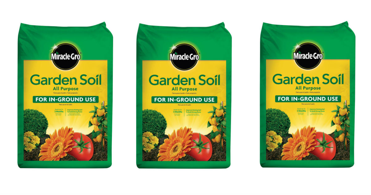 Miracle-Gro Garden Soil On Sale for $2.00 at Lowe's