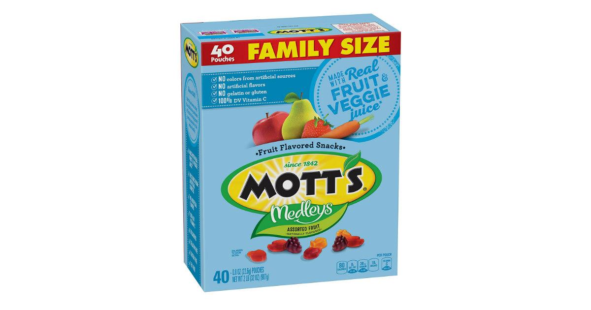 Motts Medleys Fruit Snacks at Amazon