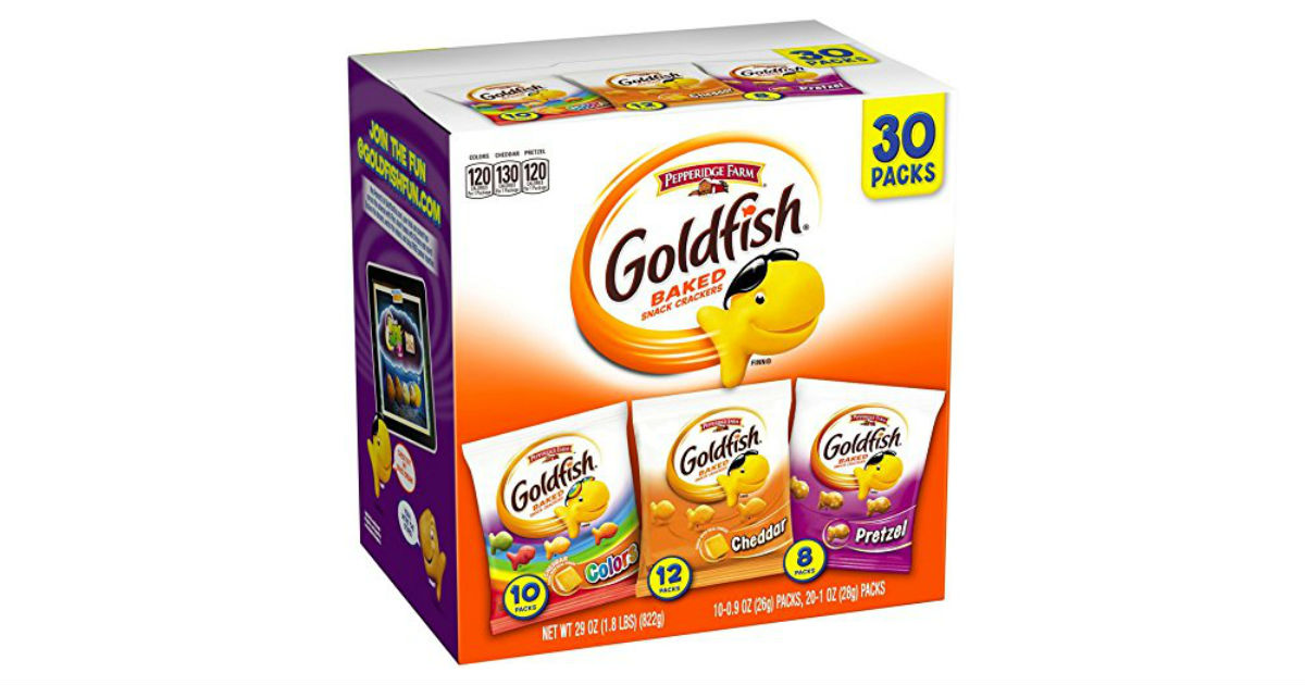 Pepperidge Farm Goldfish 30ct Variety Pack $7.11 + Free Shipping