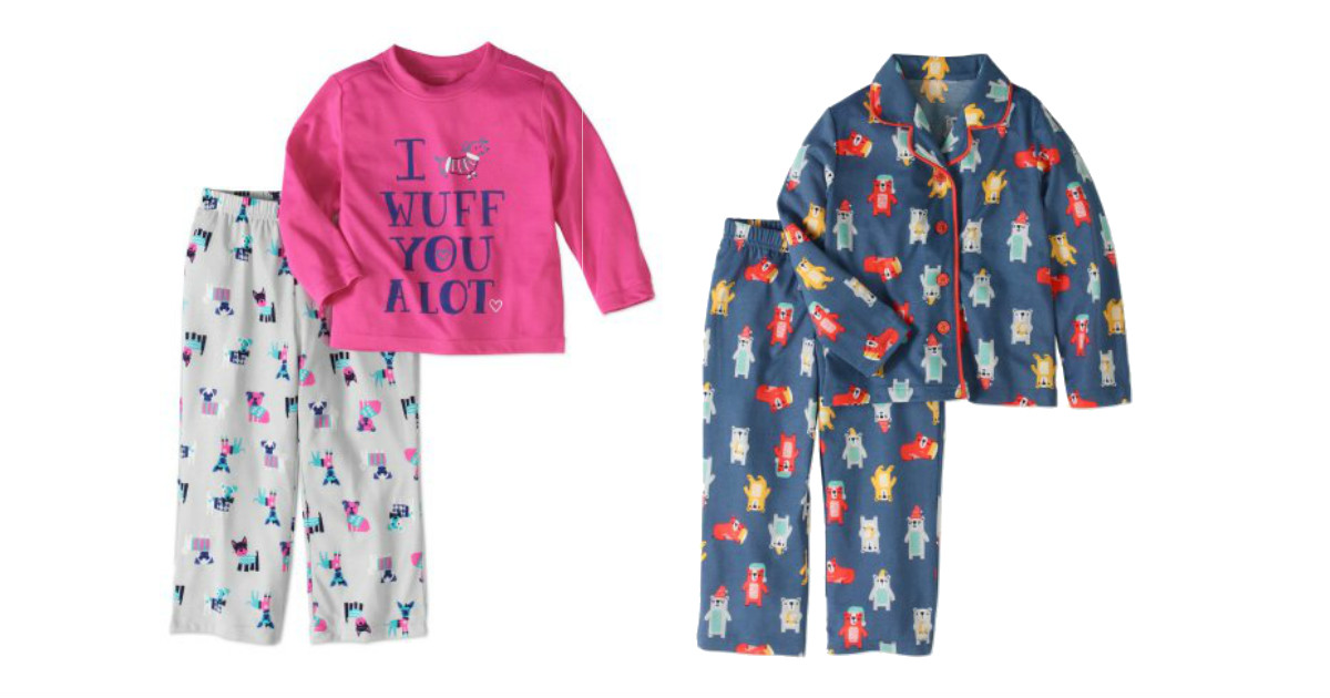 Kids Pajamas Only $5 at Walmar...