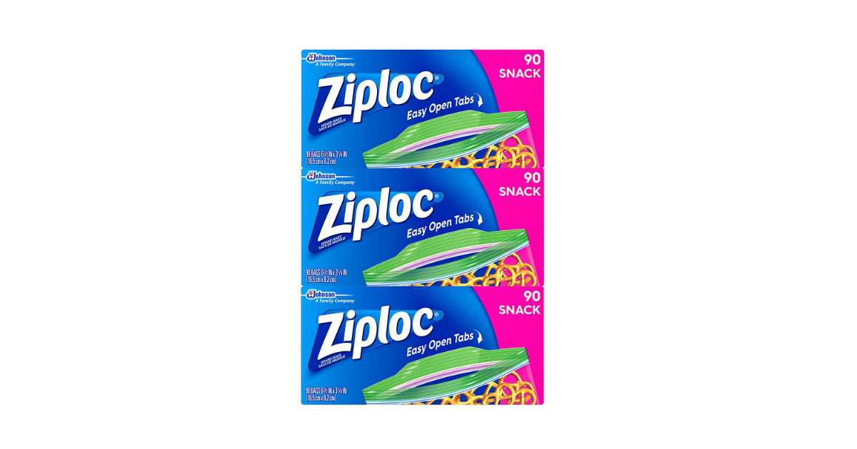 ZIploc Snack Bags deal at Amazon