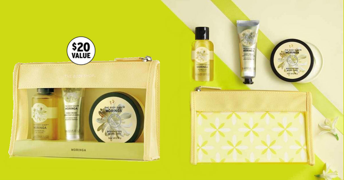 $7.53 (Reg. $15) Body Shop Moringa Gift Set - Mother's Day Gift