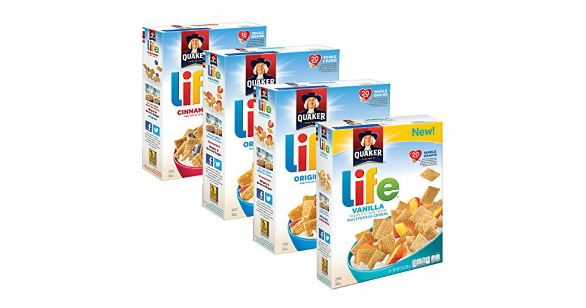 Quaker Life cereal at Amazon