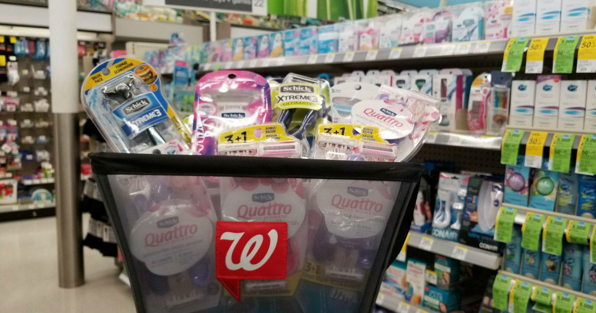 Schick Razors deal at Walgreens