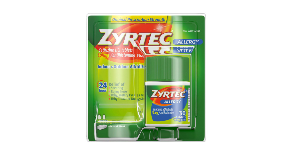 photo relating to Printable Zyrtec Coupon called Large-Cost Zyrtec Printable Coupon + Rebate - Printable Discount coupons
