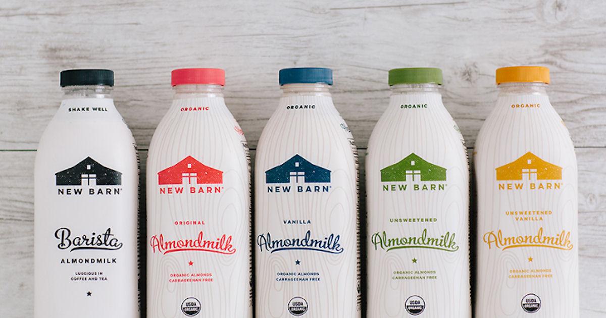 Free New Barn Organic Unsweetened Almondmilk