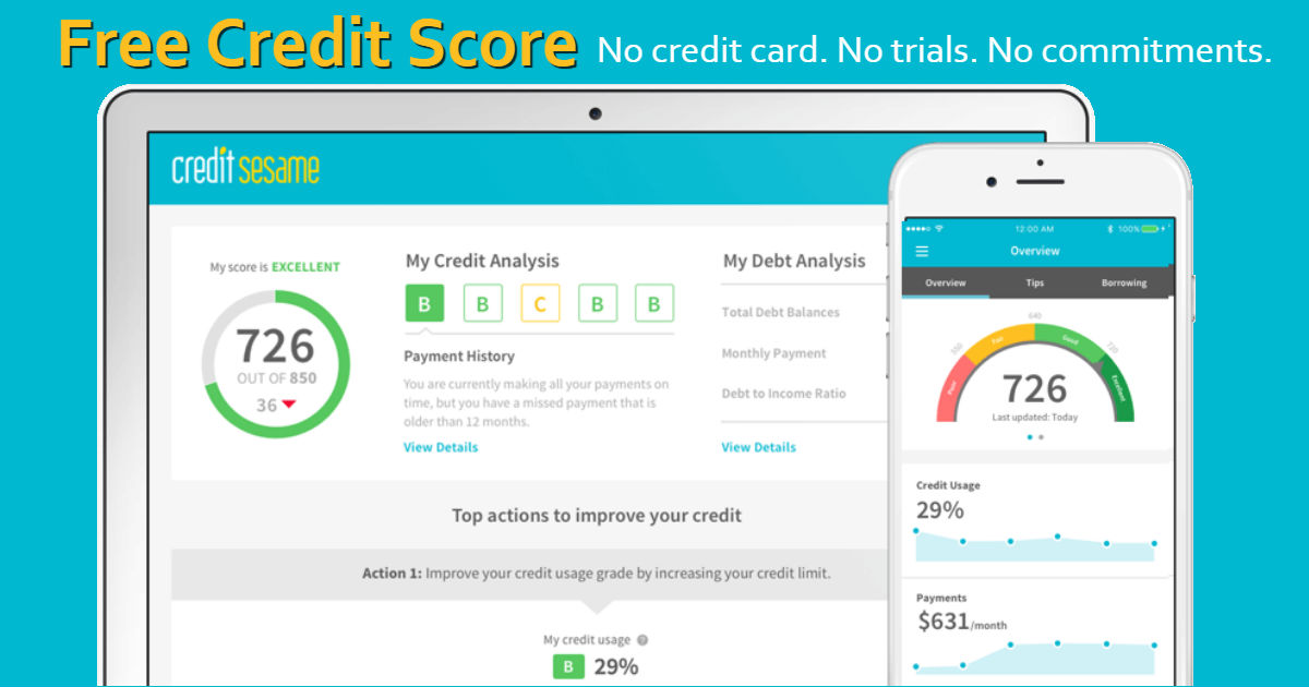 FREE Credit Score and Monthly.