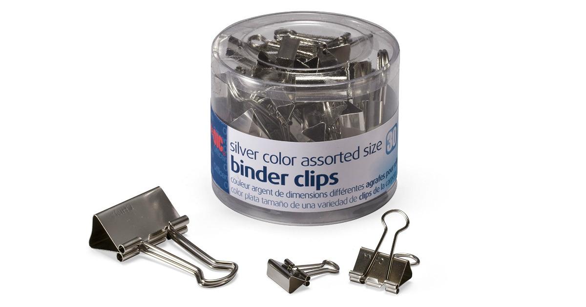 30ct Binder Clips on Sale for $1.76 (Reg. $7.89)