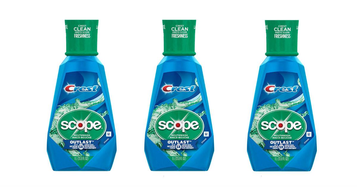 Crest Scope Mouthwash deal at Amazon