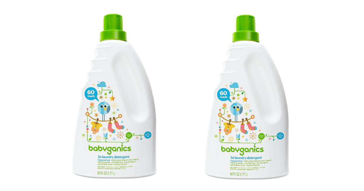 Babyganics Laundry Detergent coupon and deal at Amazon