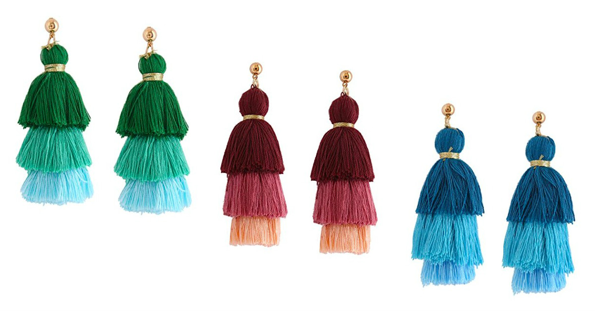 Tassel Earrings Starting at $3.87 on Amazon