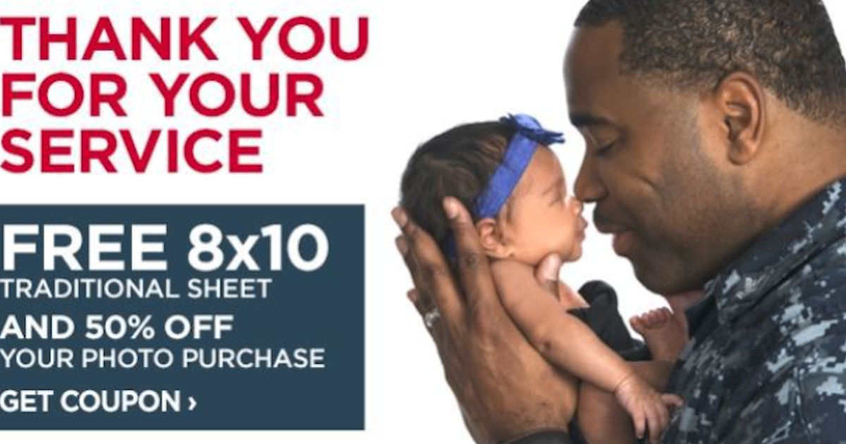 jcpenney portraits free 8x10 for military families free product