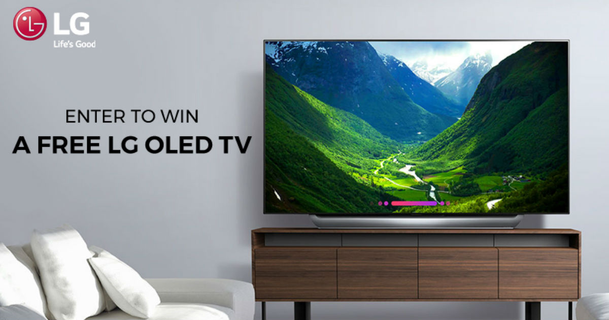 Win an LG 55 inch OLED 4K Smart TV - Free Sweepstakes