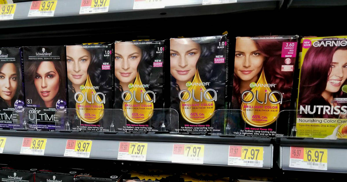 photo regarding Printable Hair Color Coupons identified as Garnier Olia Merely $3.47 at Walmart with Printable Coupon