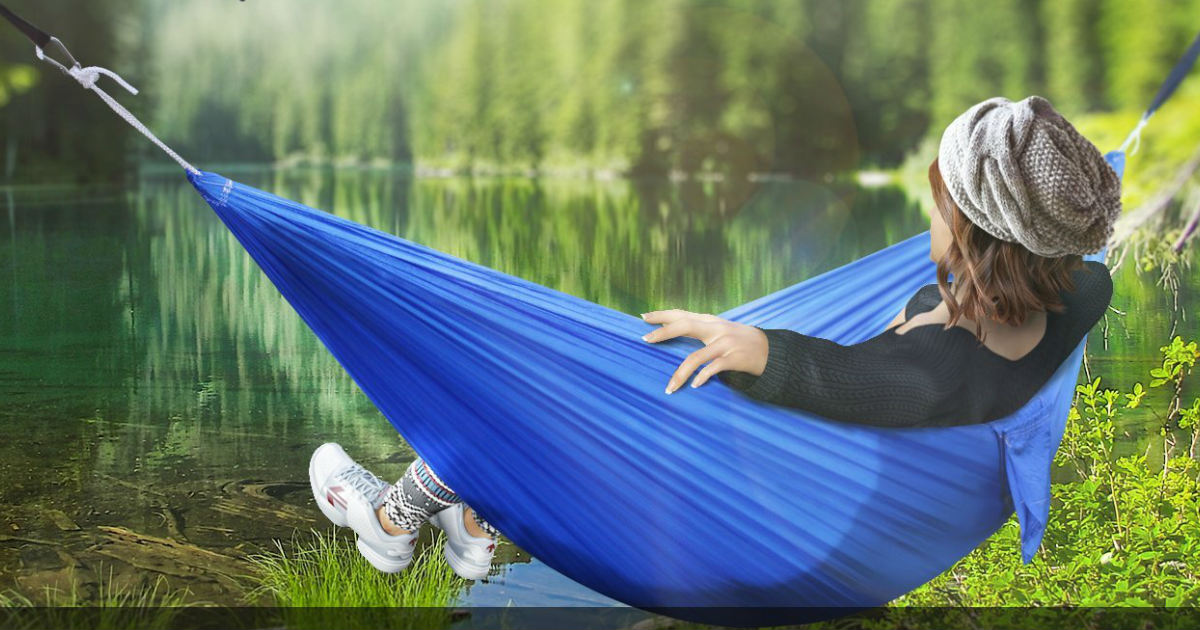Lightweight Camping Hammock With Carry Bag Only 7 99 At