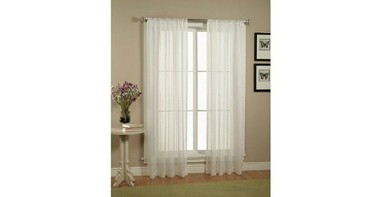 2 Piece Sheer Curtains deal at Amazon