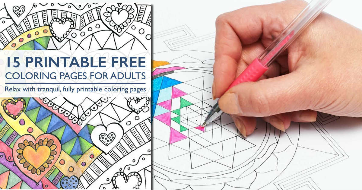 15 FREE Coloring Pages for Adu...